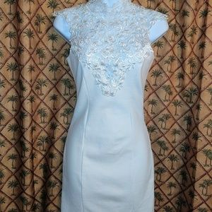 Lulus Mini Bodycon Sleeveless Lace Dress